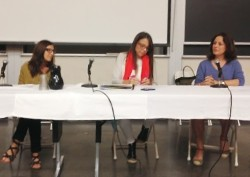 """Many Drafts of Writer's Lives"" A panel at Amherst College with writing powerhouses Margaret Stohl, bestselling author of the Beautiful Creatures and Icons series, and Debby Applegate, Pulizer Prize-winning author of The Most Famous Man in America."