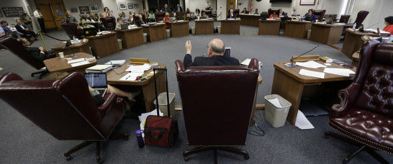 Texas State Board of Education during a textbook hearing in 2013
